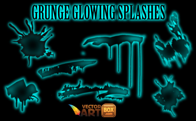 free vector Grunge Glowing Splashes