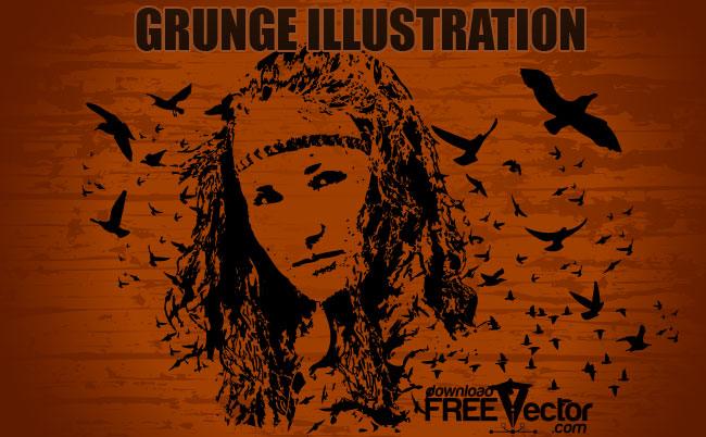 free vector Grunge Illustration
