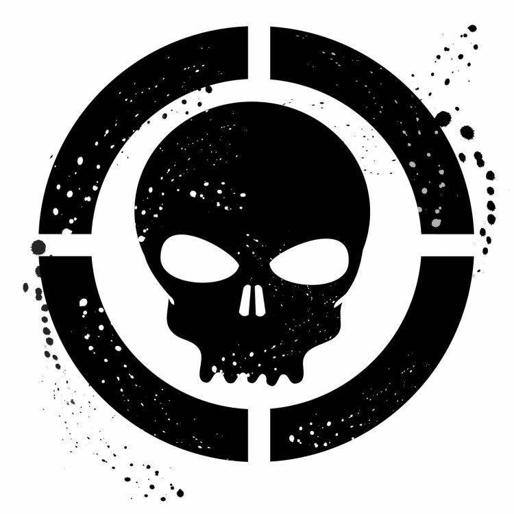 free vector Grunge skull symbol