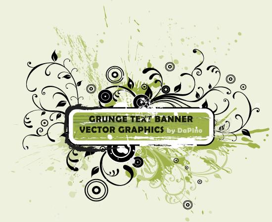 free vector Grunge text banner