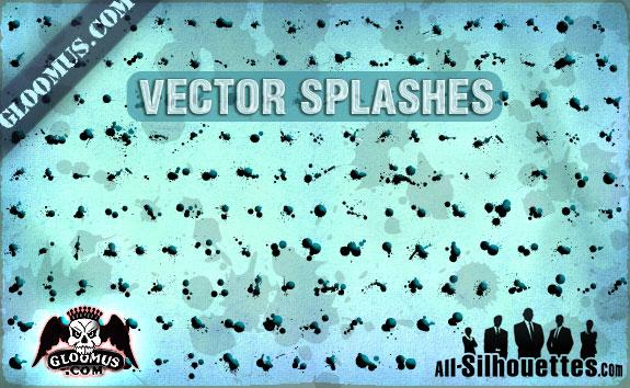 free vector Grunge Vector Splashes