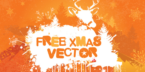free vector Grungy Christmas Vector