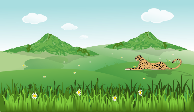 free vector Guepard on Landscape