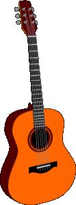 free vector Guitar Colored clip art