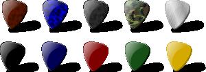 free vector Guitar Pick Set clip art