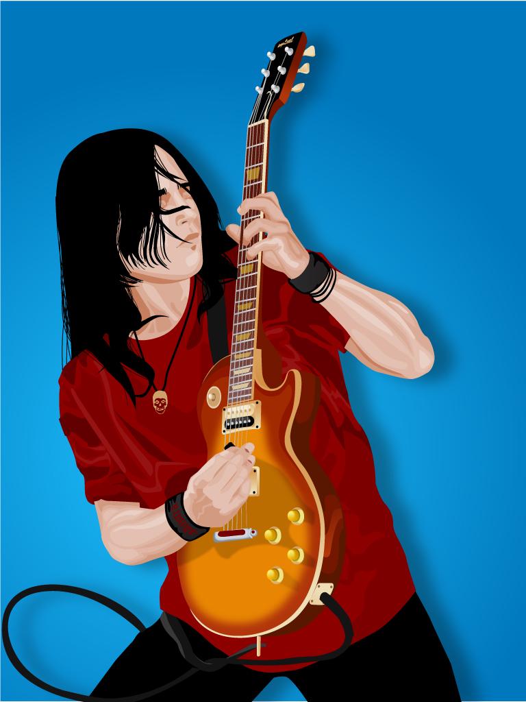 free vector Guitar Player Vector