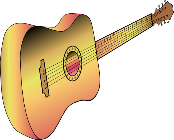 free vector Guitar Profile clip art
