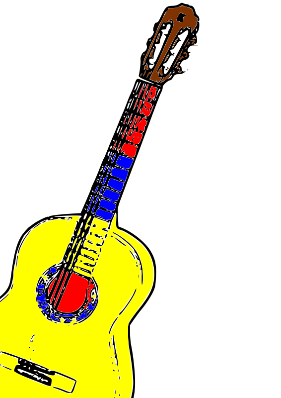 free vector Guitarra Colombia