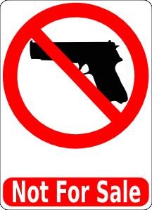 free vector Guns Not For Sale clip art