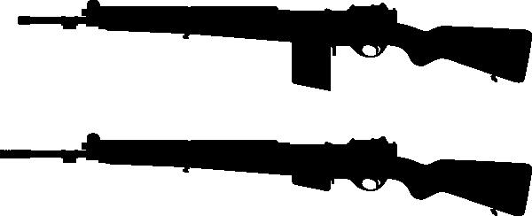 free vector Guns Silhouette clip art