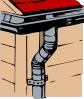 free vector Gutter Downspout clip art