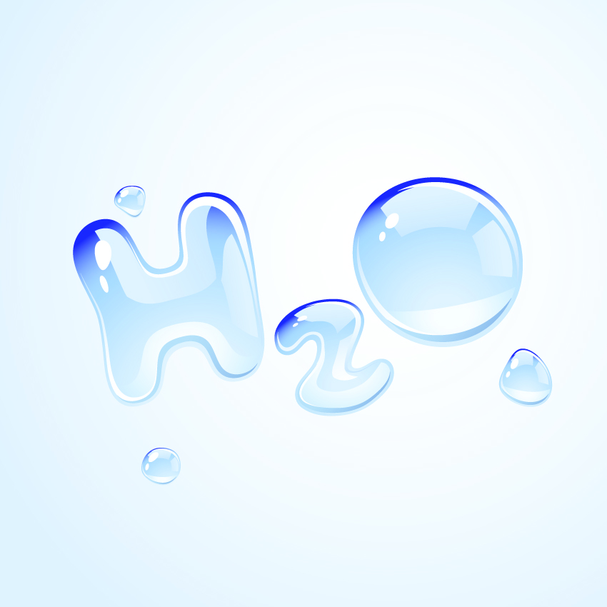 free vector H2o shape of water droplets vector