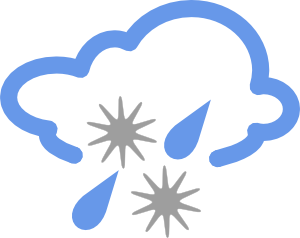 free vector Hail And Rain Weather Symbol clip art
