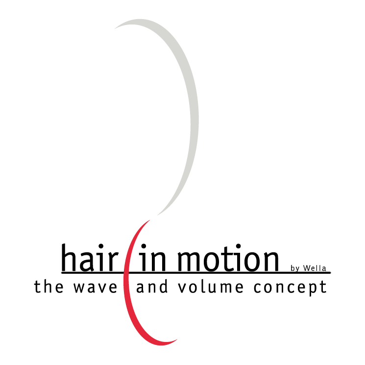 free vector Hair in motion
