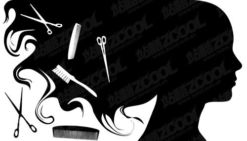 free vector Hair theme vector material