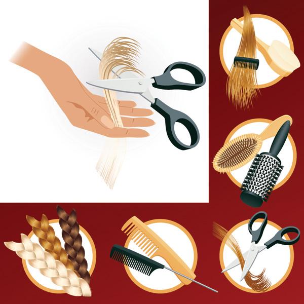 free vector Hair theme vector