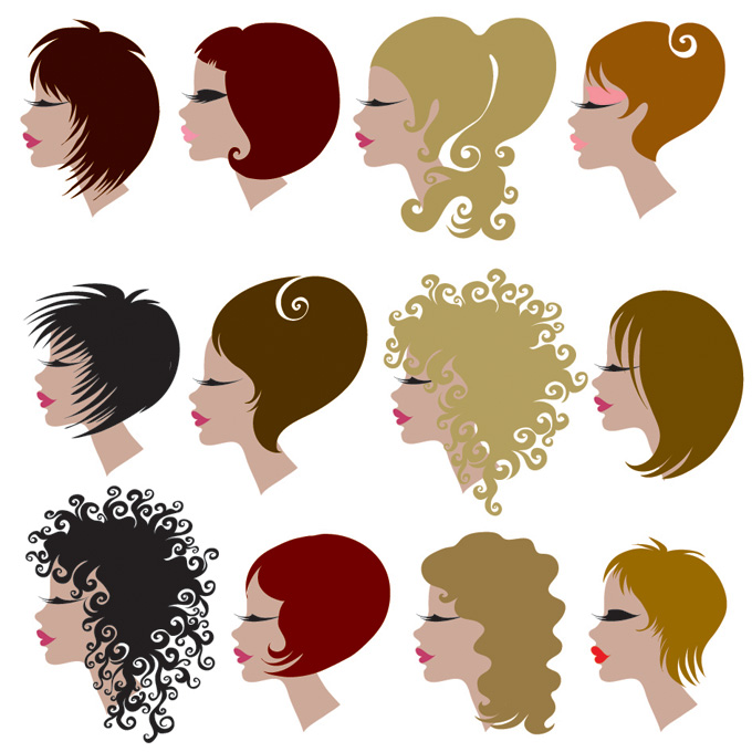 free vector Hair theme vector