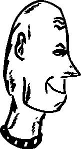 free vector Hairless Head clip art