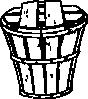 free vector Half Bushel Basket With Cover clip art