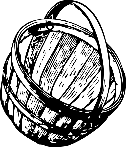 free vector Half Bushel Picking Basket clip art