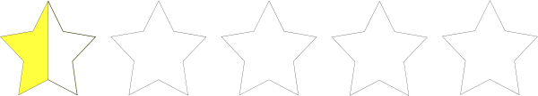 Half Star Rating clip art (110869) Free SVG Download / 4Vector