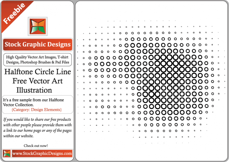 free vector Halftone Circle Line Free Vector Art Illustration