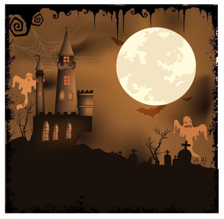 free vector Halloween background