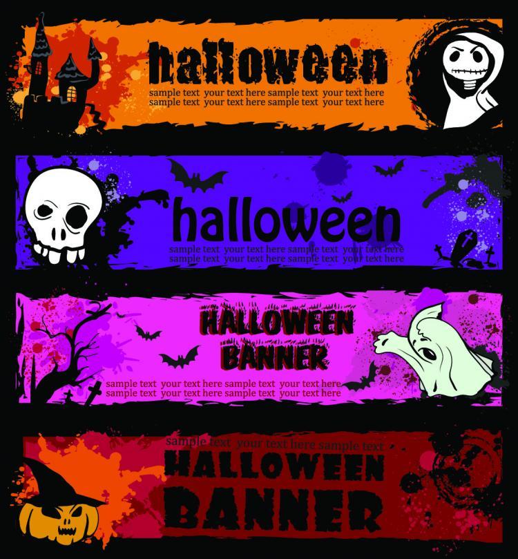 free vector Halloween banner element vector