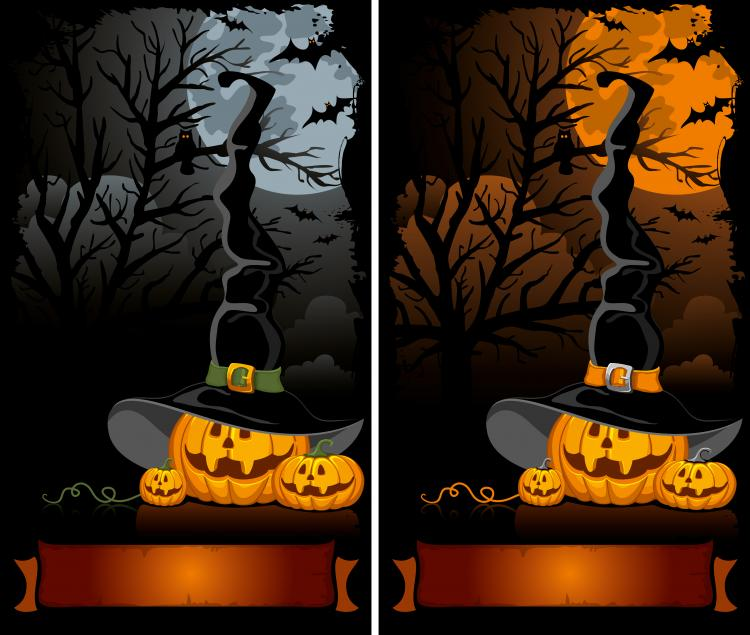 halloween cartoon background 02 vector - Halloween Background Images Free
