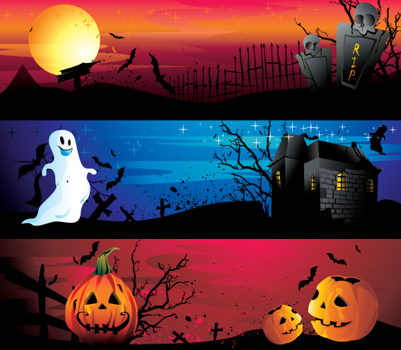 free vector Halloween cartoon images vector