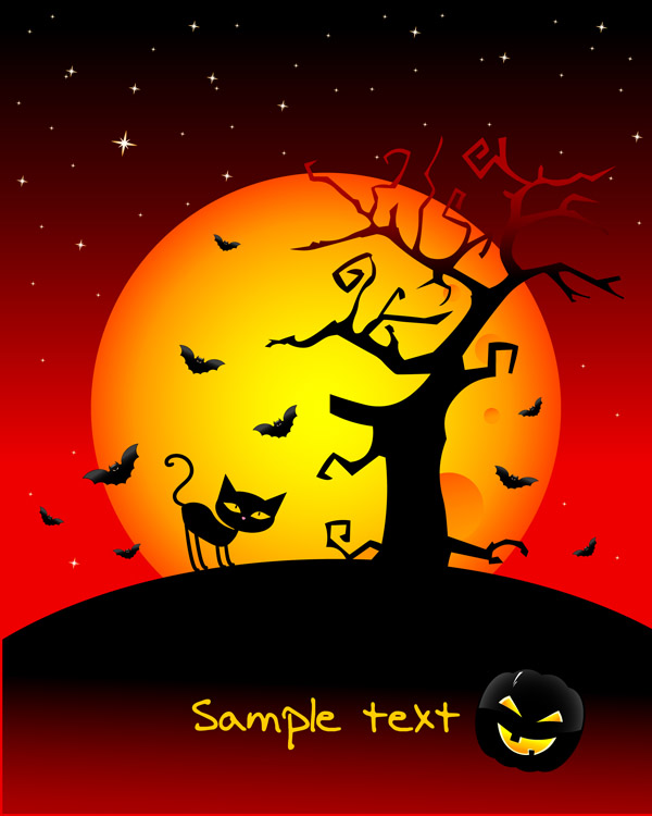 free vector Halloween horror cartoon illustrators
