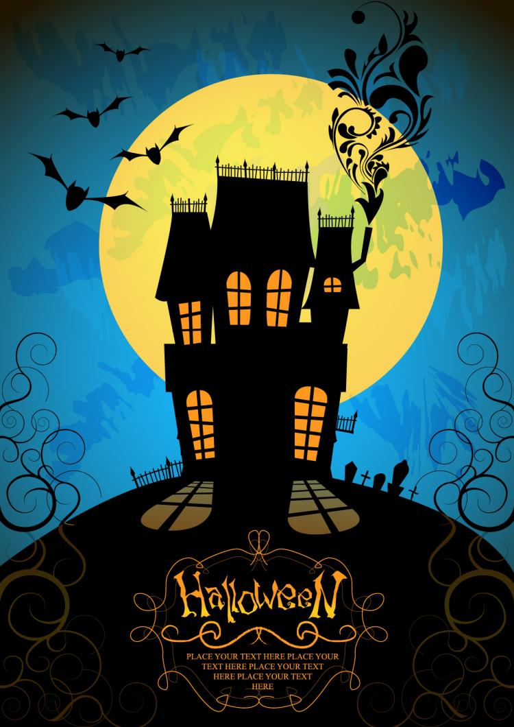 free vector Halloween horror poster vector