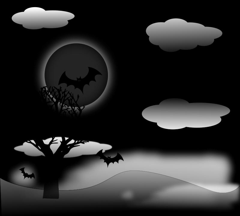 free vector Halloween Landscape