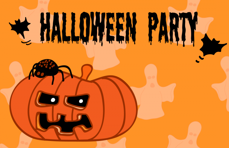 Halloween Party Invitation Card 1 Free Vector / 4Vector