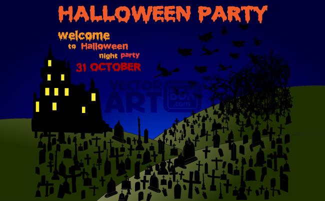 free vector Halloween Party Night