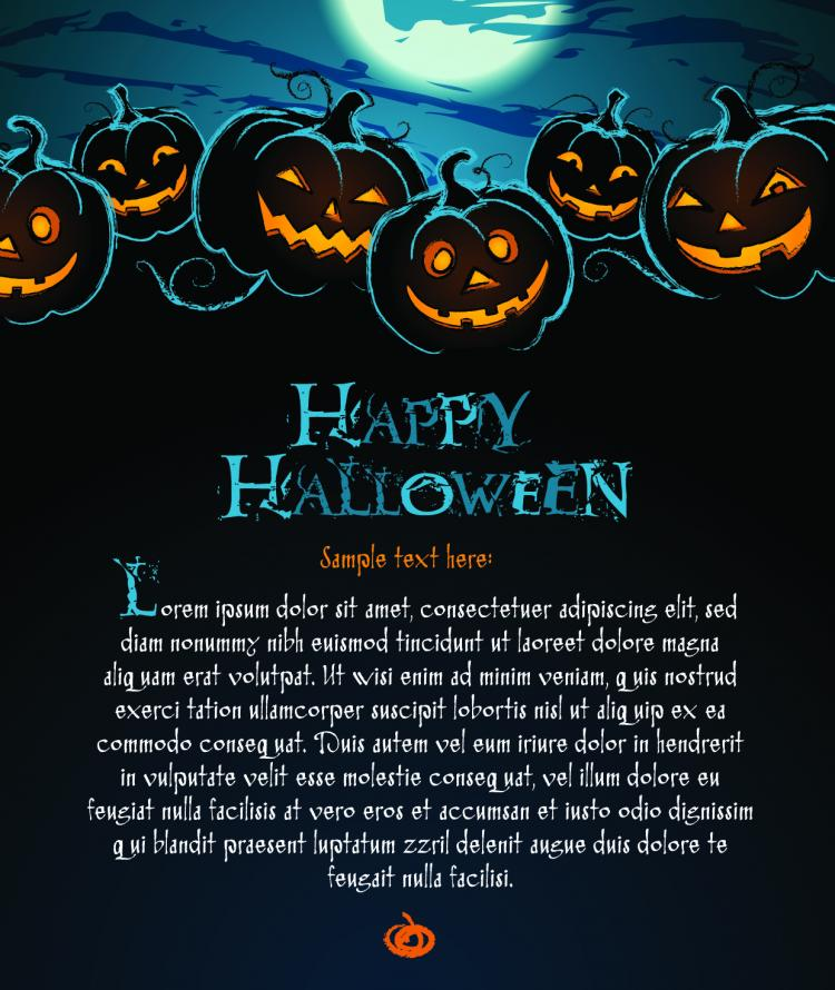 free vector Halloween posters beautiful background 02 vector