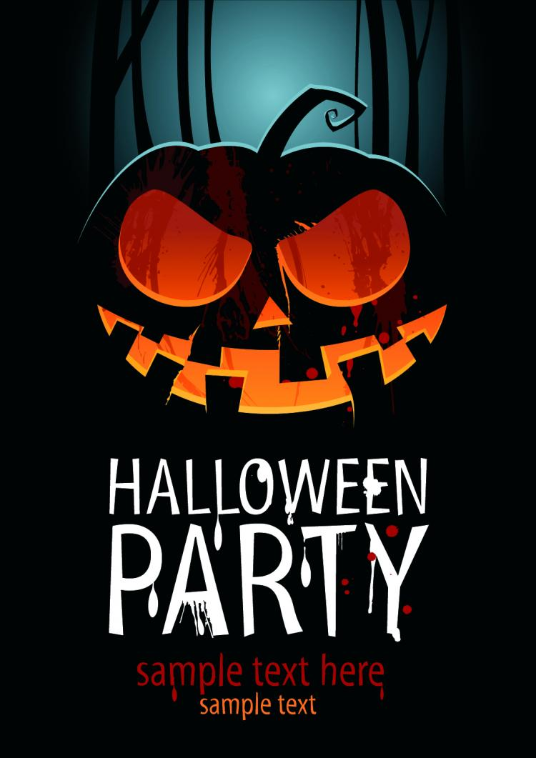 free vector Halloween posters beautiful background 03 vector