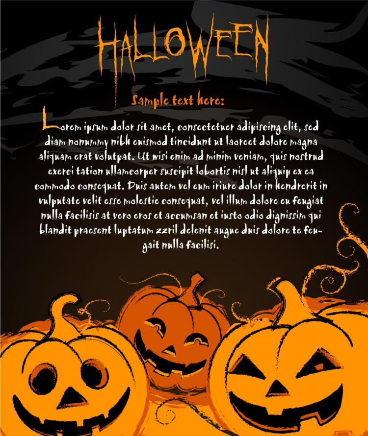 free vector Halloween posters element vector