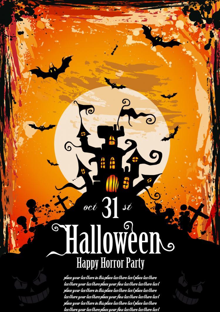halloween posters fine vector free vector    4vector