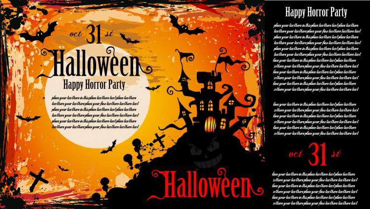 free vector halloween posters fine vector - Halloween Pics Free