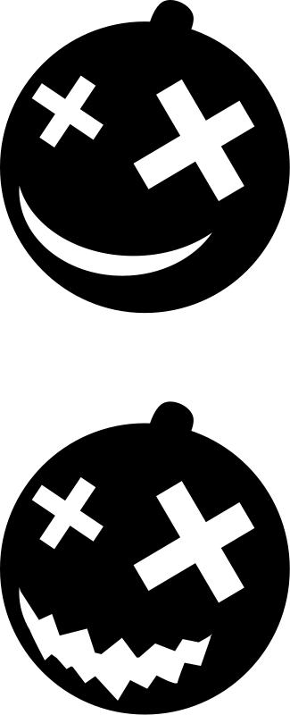 free vector Halloween - Pumpkin Silhouettes