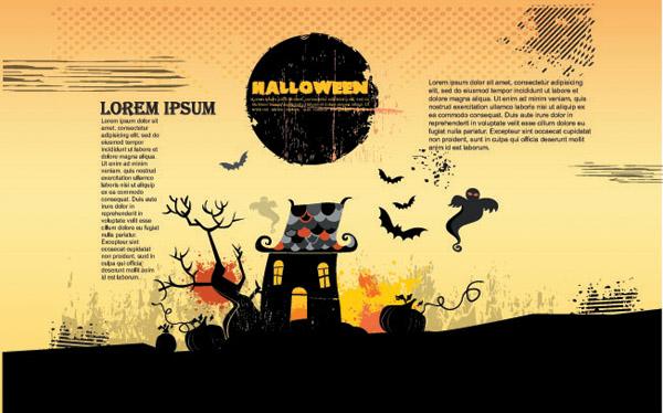 free vector Halloween theme vector amendment