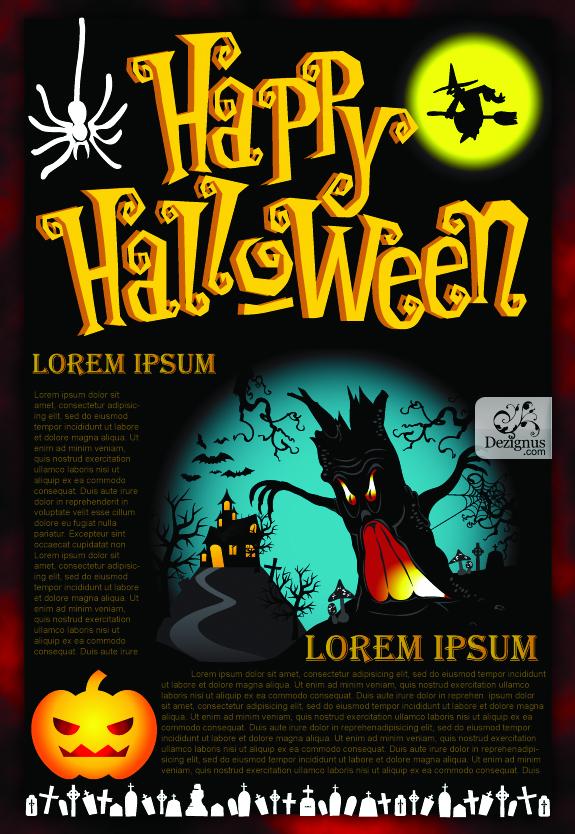 free vector Halloween Vector Poster