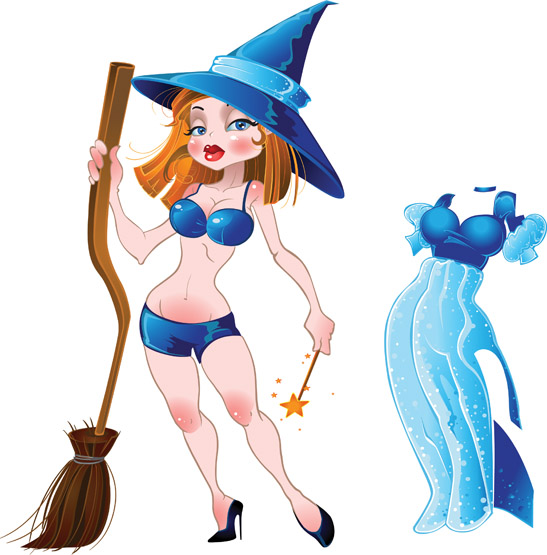 free vector Halloween witch vector