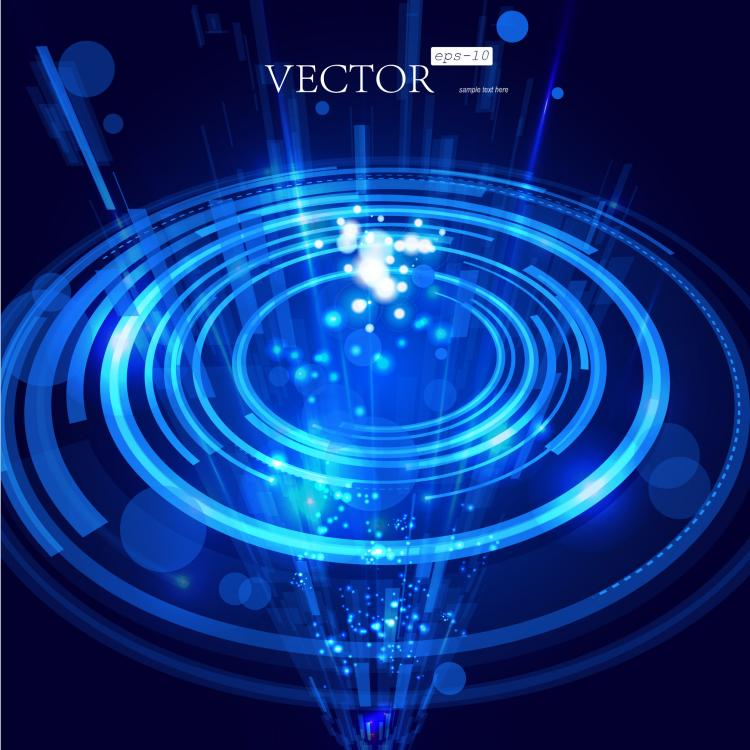 free vector Halo effects background 05 vector