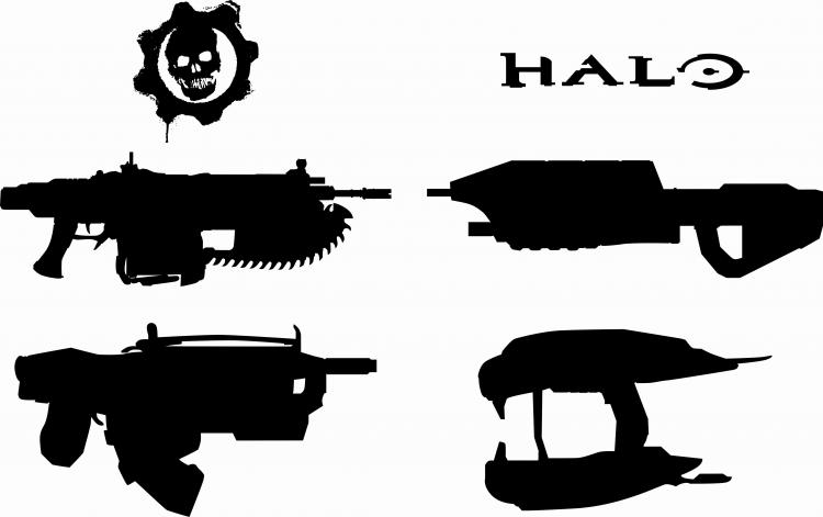 free vector Halo, Gears Weapons