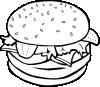 free vector Hamburger (b And W) clip art