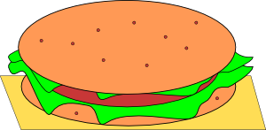 free vector Hamburger clip art