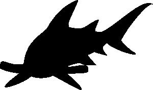 free vector Hammerhead Shark clip art