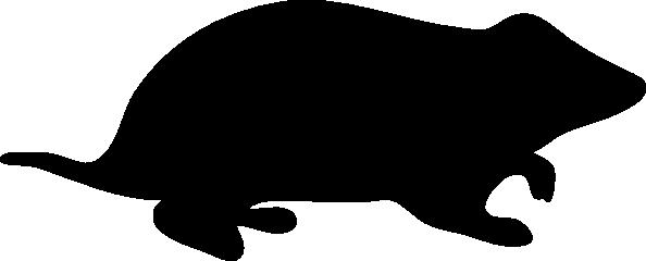 free vector Hamster Silhouette clip art